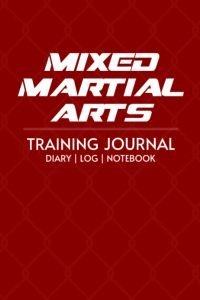 mixed martial arts-training-journal-red